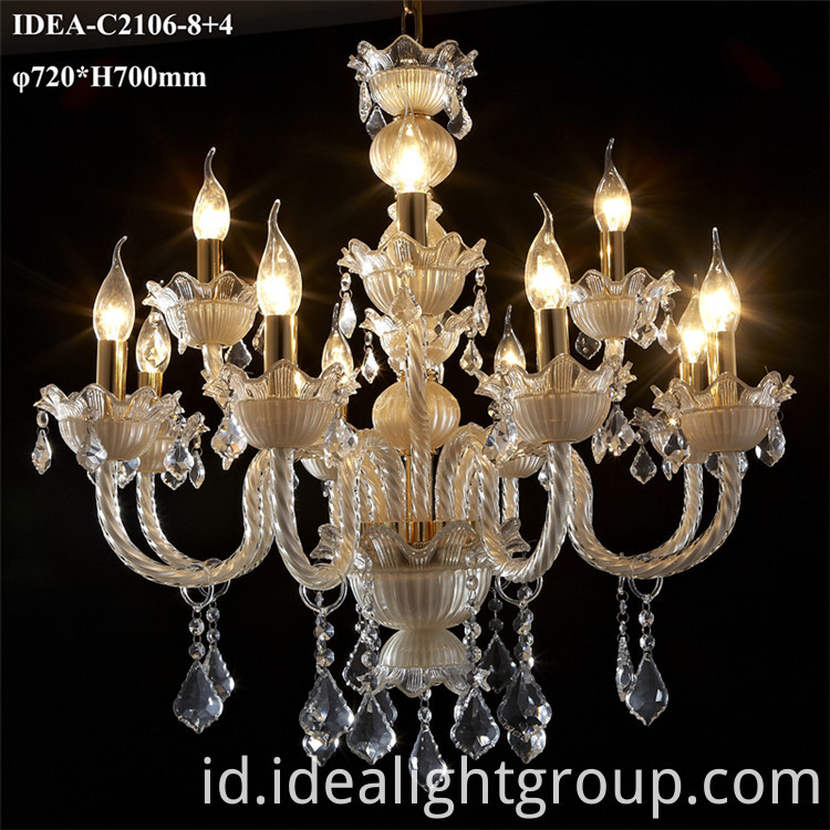 crystal decorative candle lamp